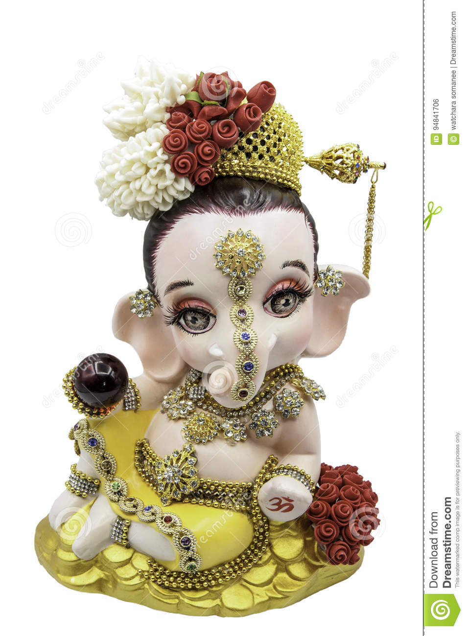 Hindu God Ganesha Thai Dress Stock Photo Image Of Head Statue