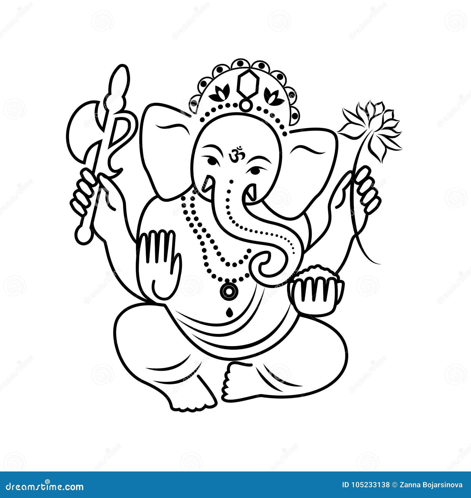 outline of hindu god
