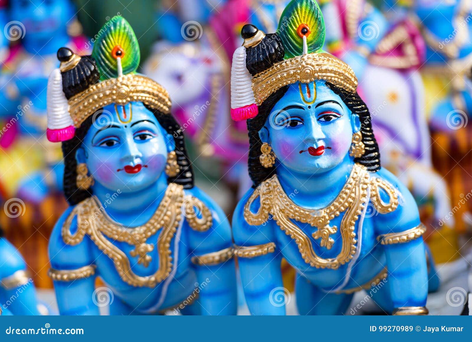 Hindu God Krishna stock image  Image of carving, religion - 99270989