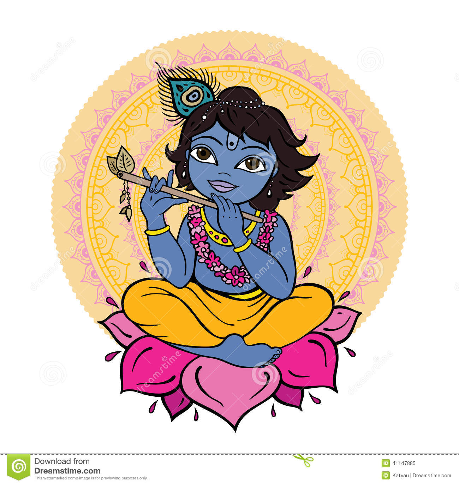 clipart of lord krishna - photo #13