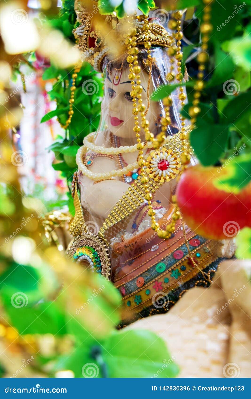 The Hindu God, Lord Krishna, Stock Photo - Image of religious, lord