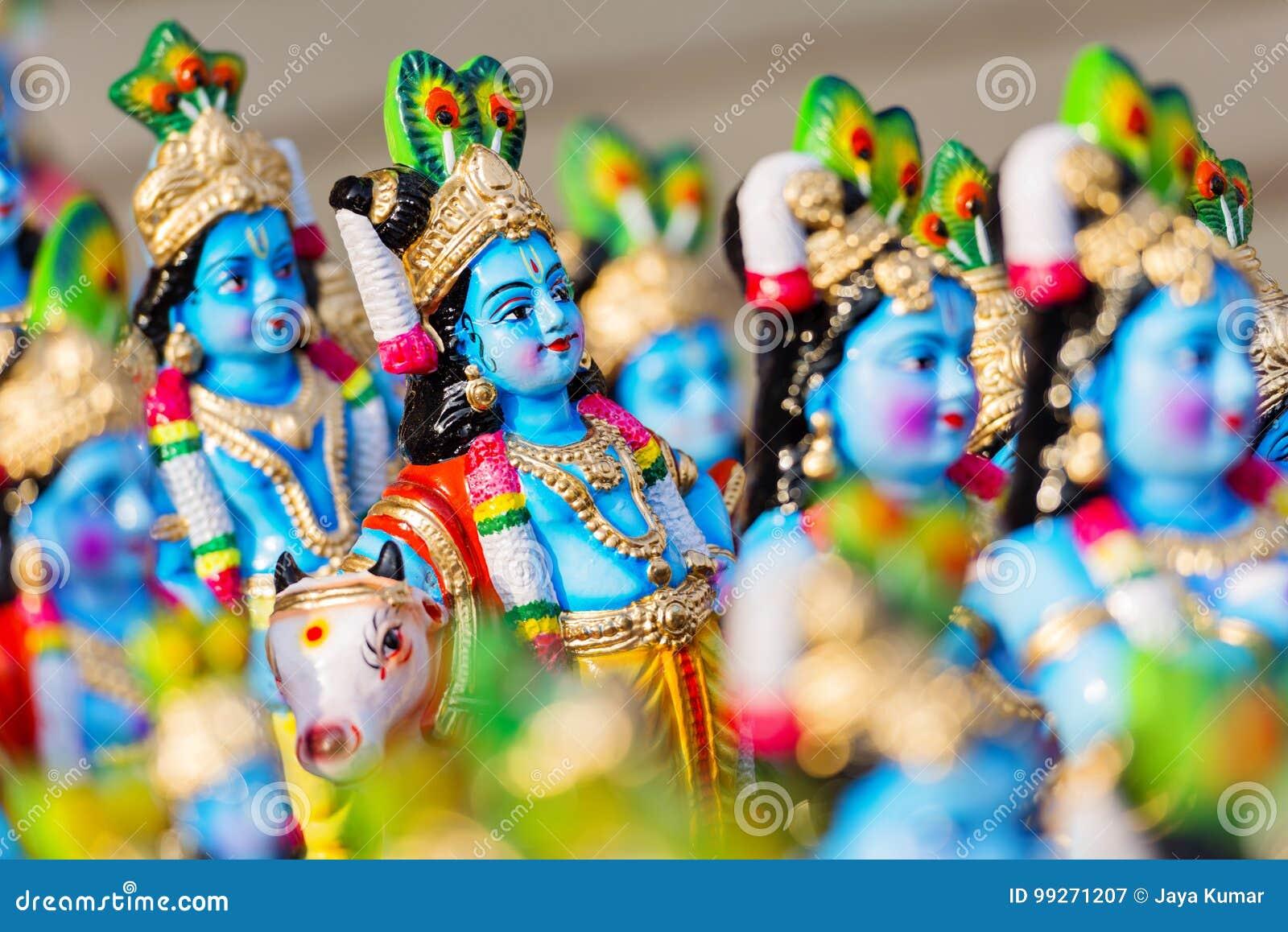 Hindu God Krishna stock image  Image of religious, festival