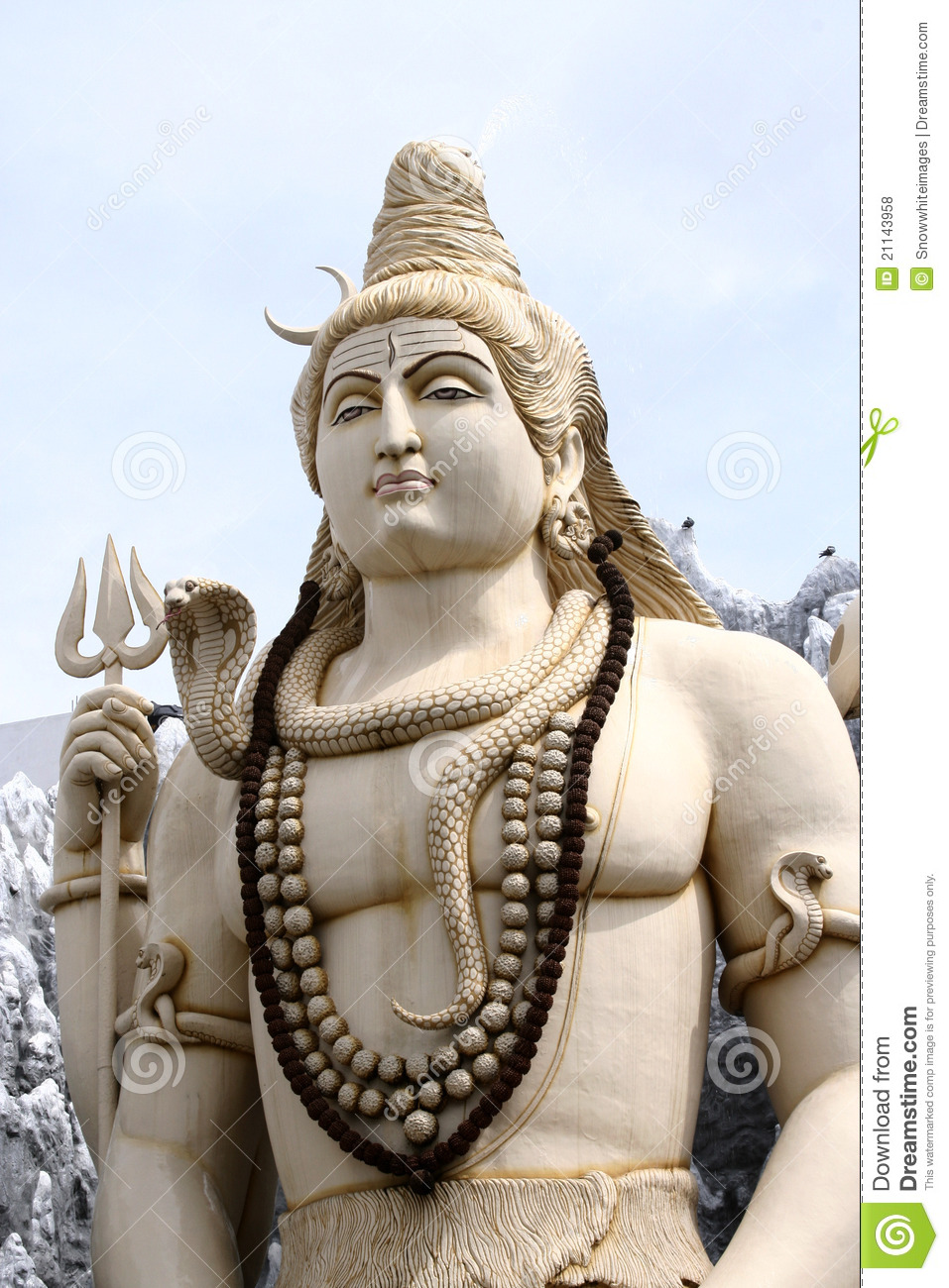 Hindu God Lord Shiva Stock Photo Image Of Blessing Mythological