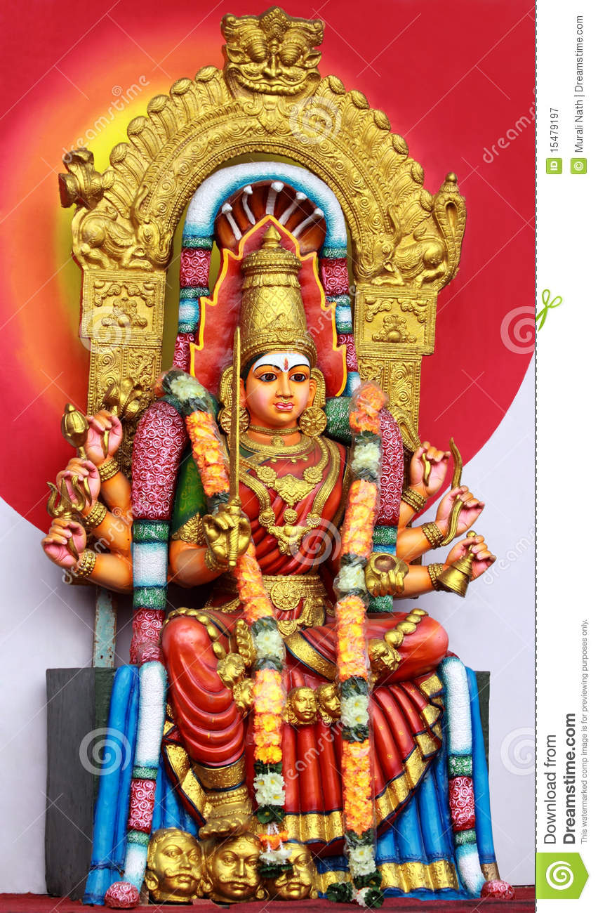 Hindu Goddess Amman Royalty Free Stock Photography - Image: 15479197