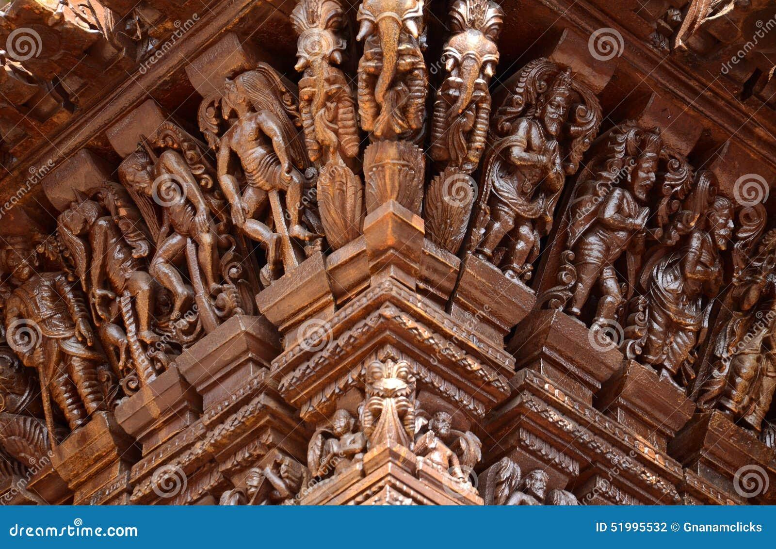 Hindu gods on chariot stock photo image of religion