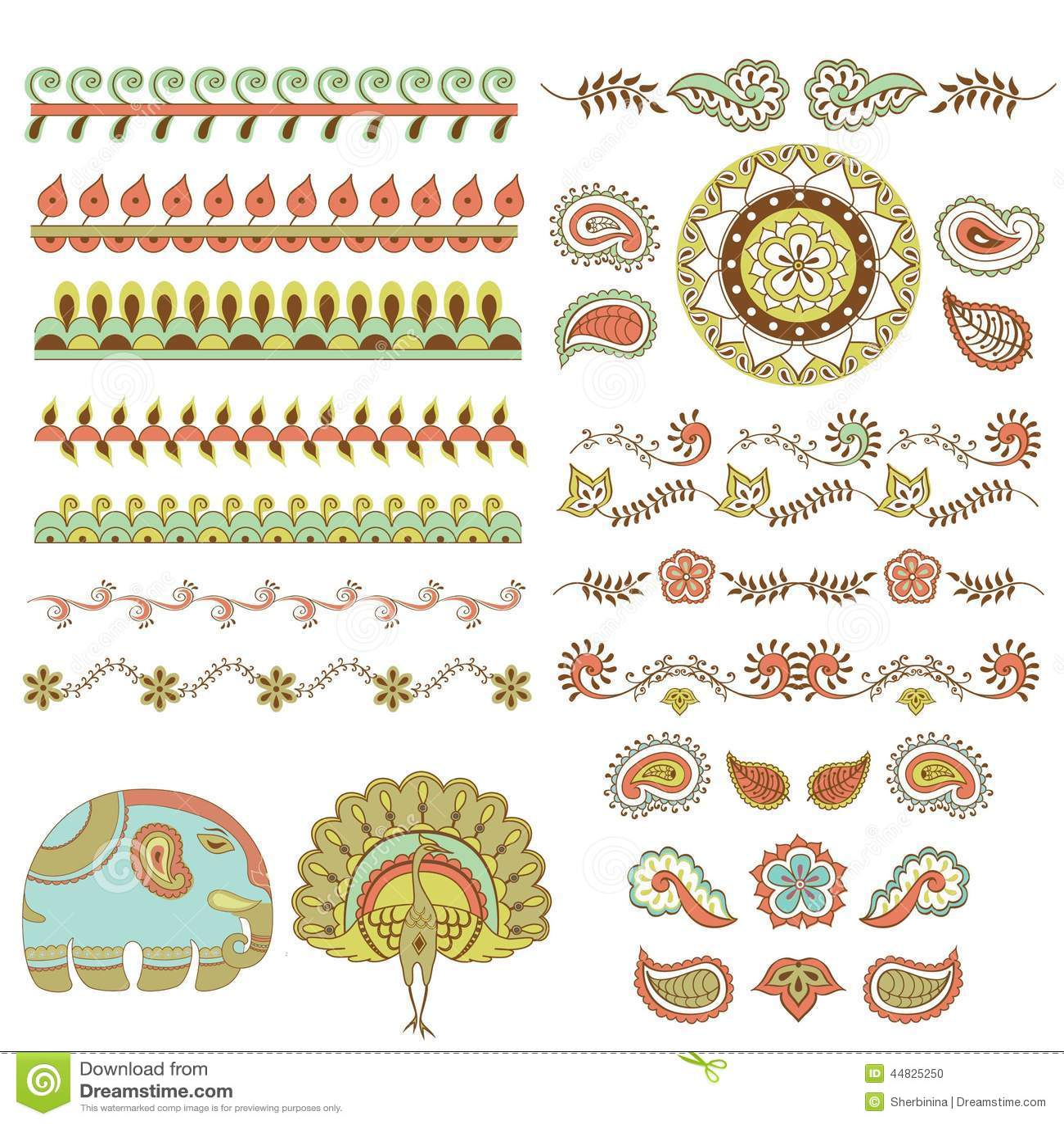 Hindu ornament stock vector illustration of india background hindu handmade ornament set stock photo buycottarizona