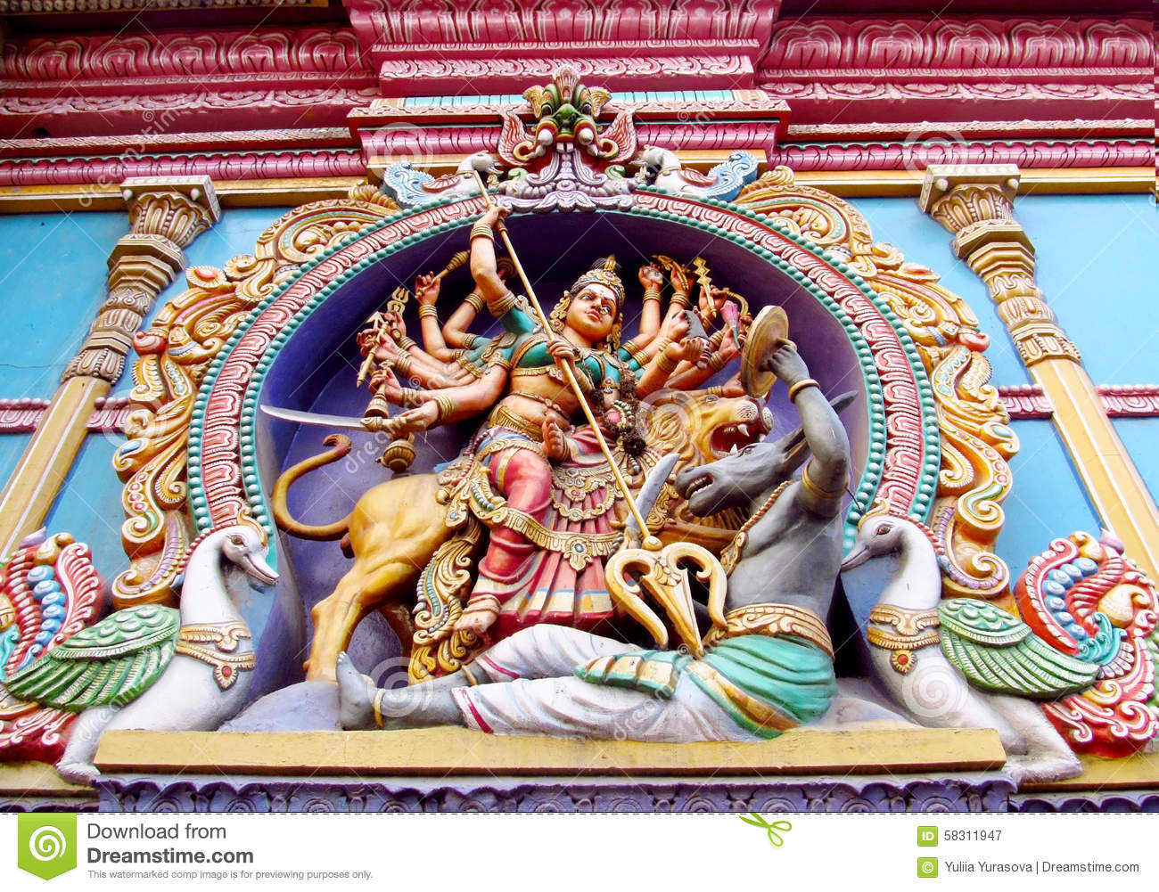 Hindu legendary gods beautiful statues