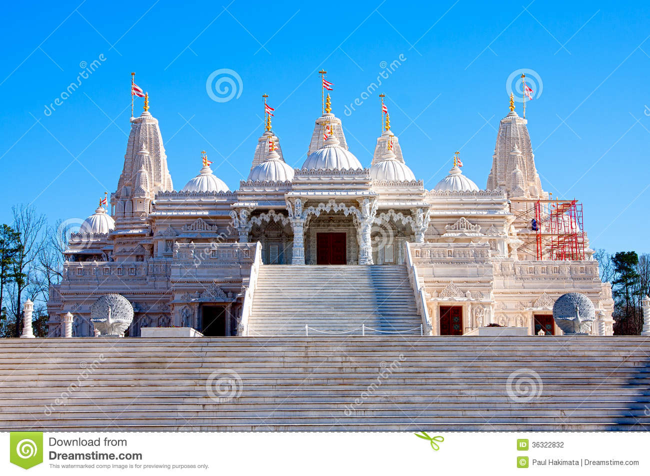 Hindu Mandir Temple Made Of Marble Stock Photography ...