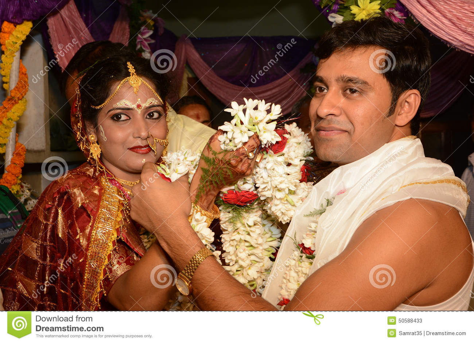 Marriage ornaments - Hindu Marriage Stock Photos