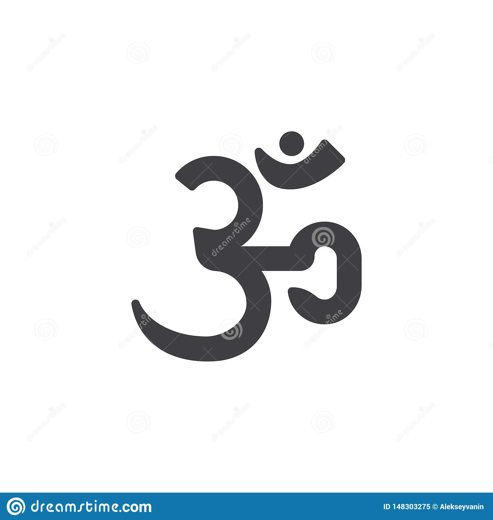 Hindu Om Aum Vector Icon Stock Vector Illustration Of Sign 148303275