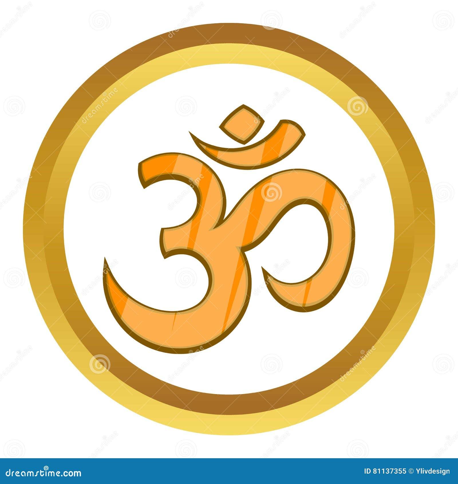 Hindu Om Symbol Vector Icon Stock Vector Illustration