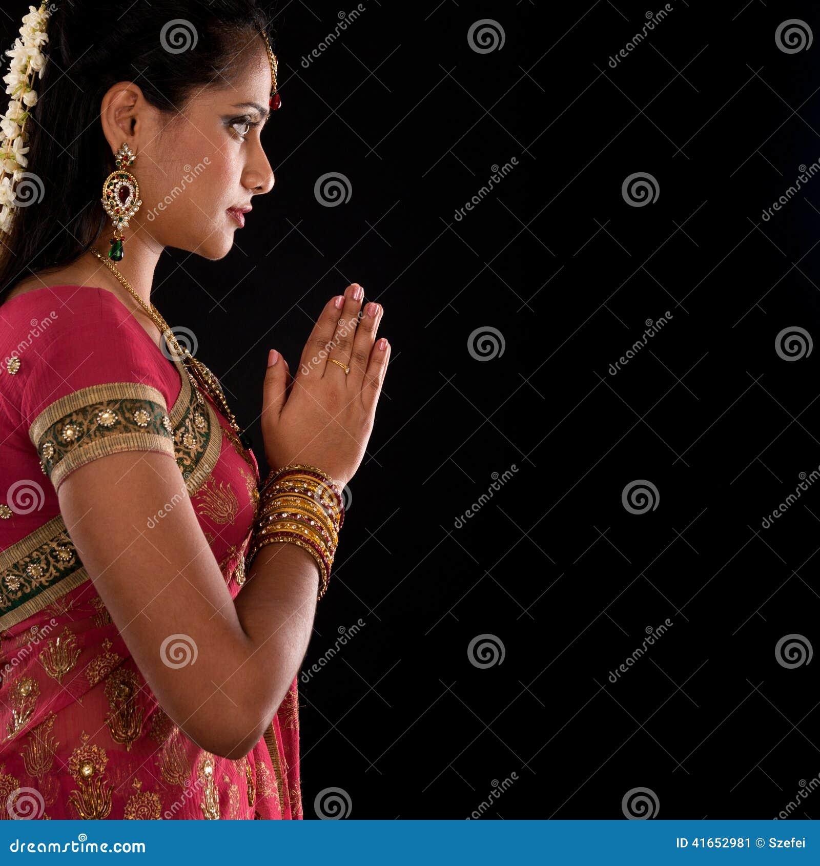Hindu Prayer Stock Image Image Of Asian India Girl 41652981