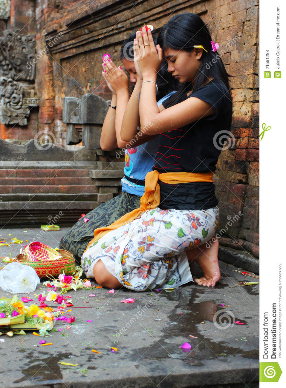 Hindu prayers editorial stock photo. Image of prayer ...