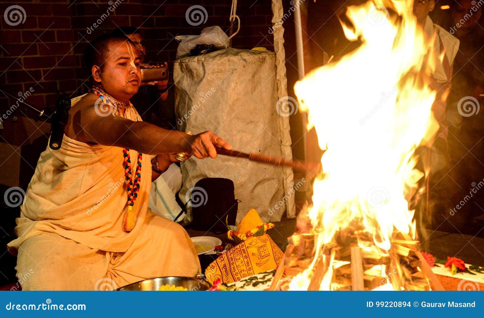 hindu priest editorial stock image image of priest