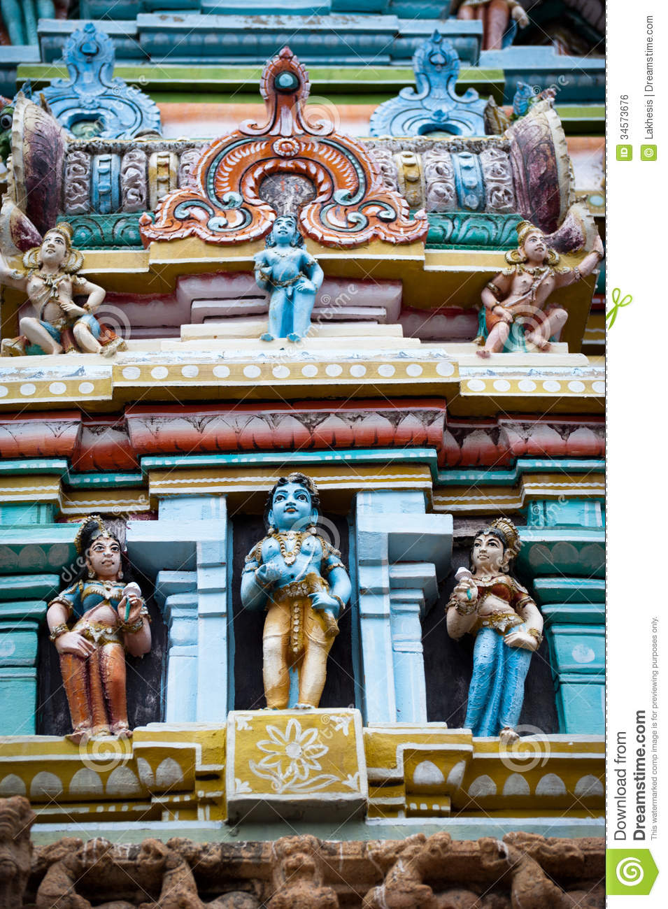 Hindu Religious Art. Ancient Statue Of Gods Stock Photo ...