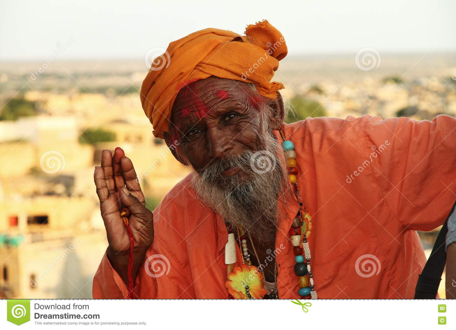 Hindu Shadu In Jaisalmer  Rajasthan Editorial Photo - Image