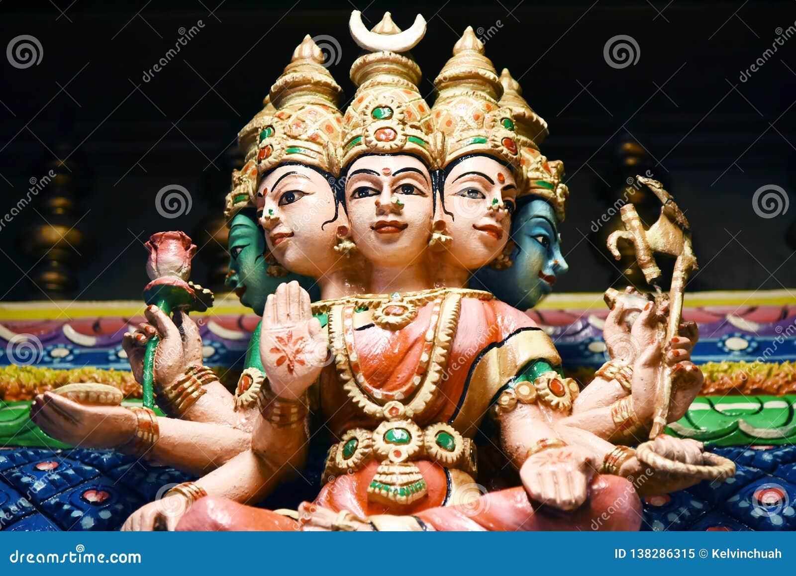 Hindu Statues at Batu Caves Kuala Lumpur Malaysia.