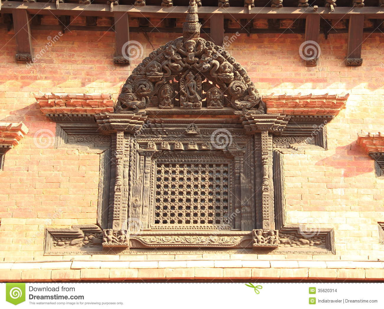 Hindu temple architecture stock images image 35620314 for Window design in nepal