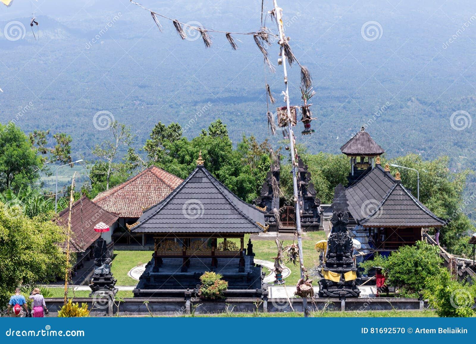 Indonesia Bali Sidemen Landscape With Agung Volcano In Background ...