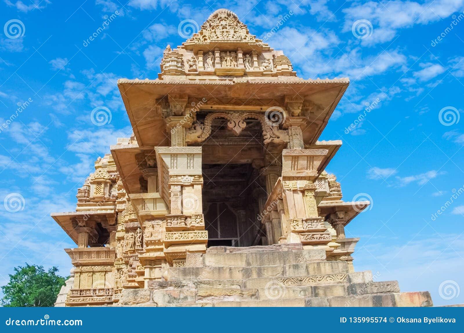 Hindu Temple In Khajuraho, India Stock Photo - Image of