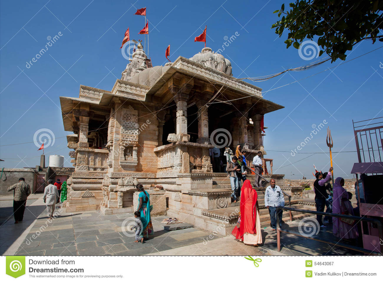 Marble Temple Home Decoration Hindu 8th Century Temple Kalika Mata Editorial Photo