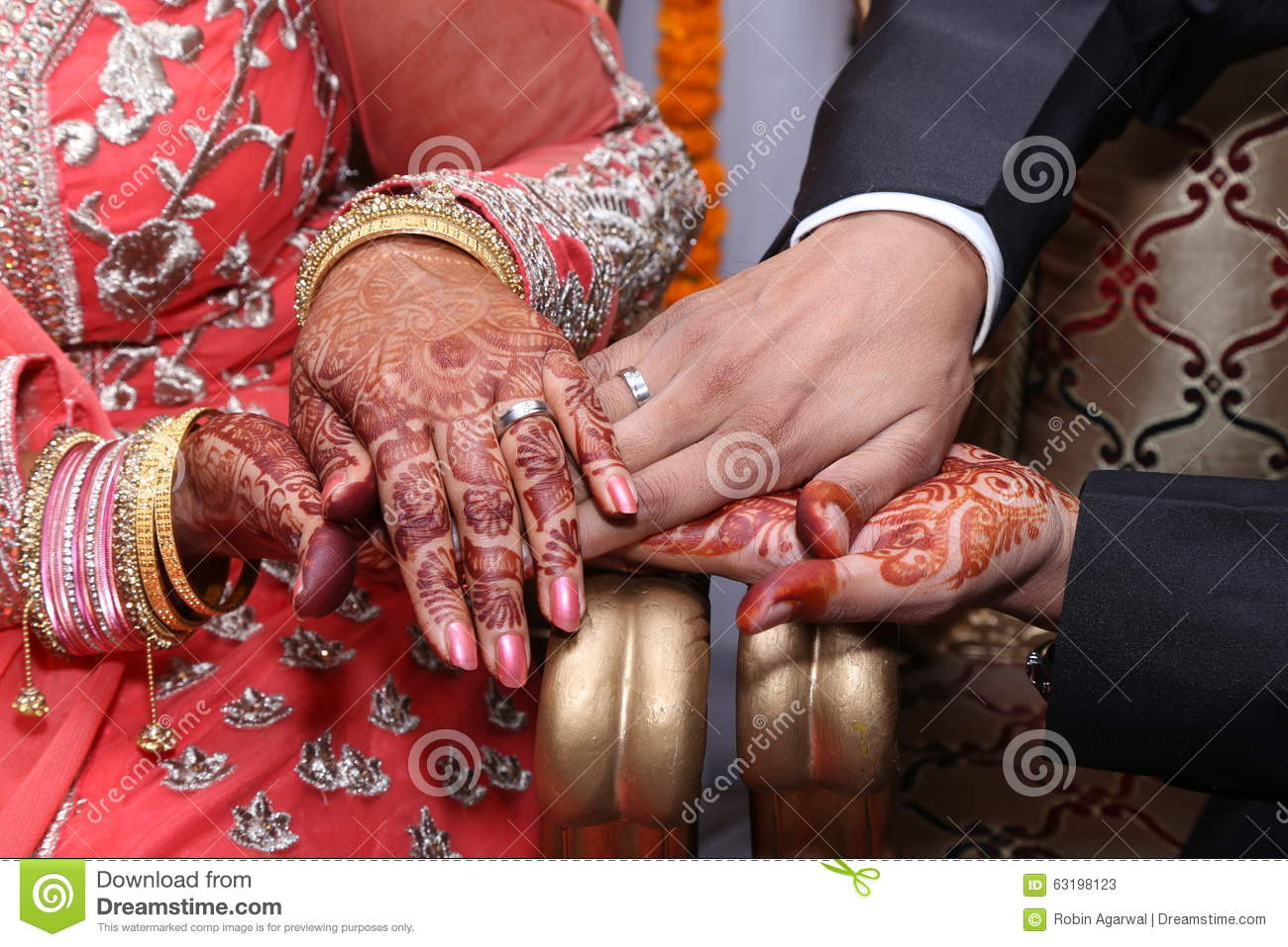 Hindu Wedding Ring Ceremony Stock Image Image of couple ceremony