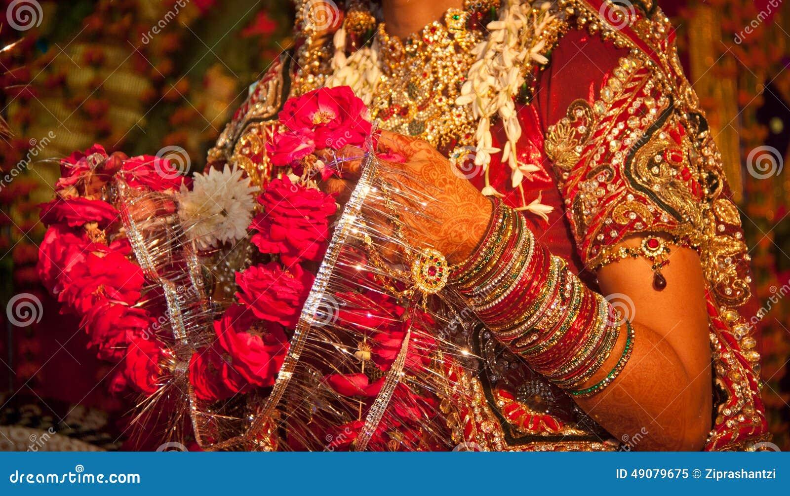 Hindu Wedding Ritual In India Stock Image - Image of