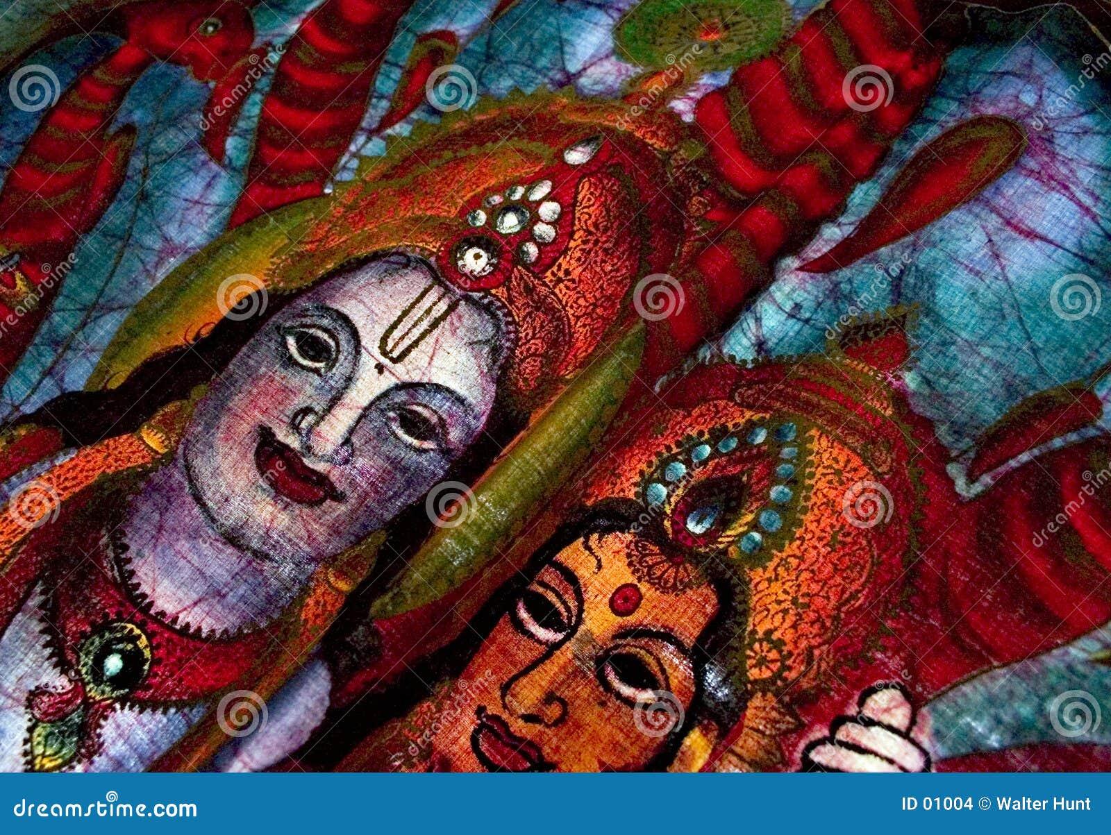 Hinduisk batikdetalj