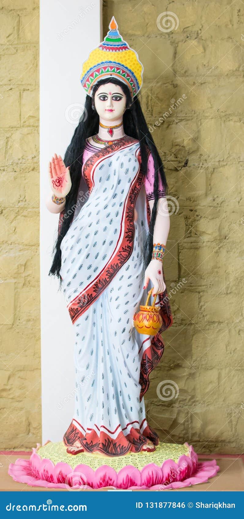 Hinduisk gud Devi Brahmacharini Idol