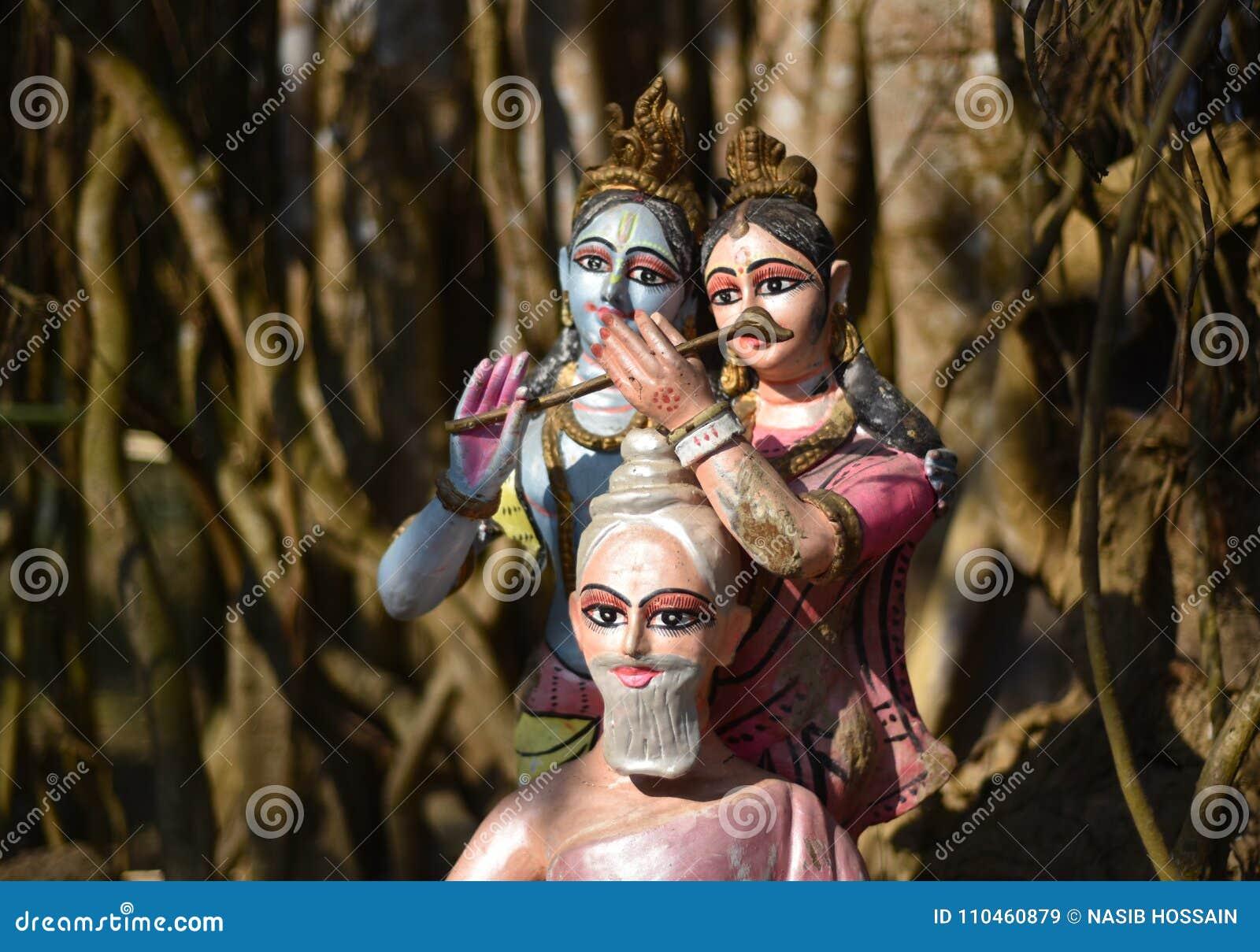 Hinduiskt religiöst statymaterielfotografi