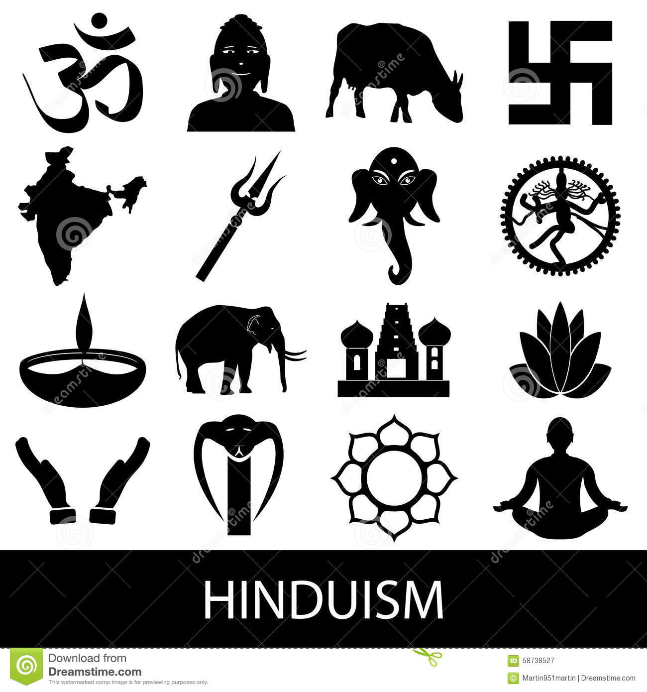Hinduism religions symbols vector set of icons eps10 stock vector hinduism religions symbols vector set of icons eps10 buycottarizona