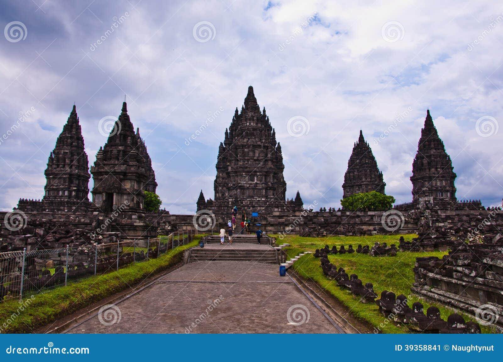 Hinduska świątynia Prambanan. Indonezja