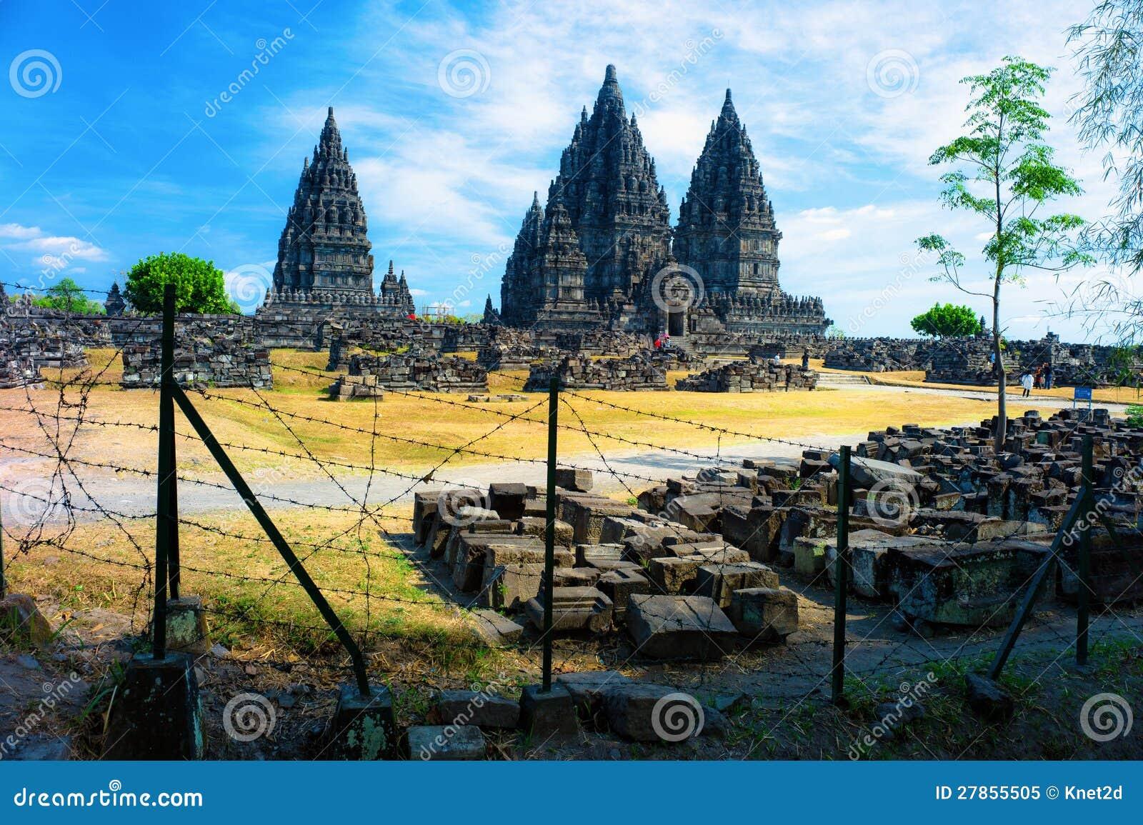 Hinduska Prambanan świątynia