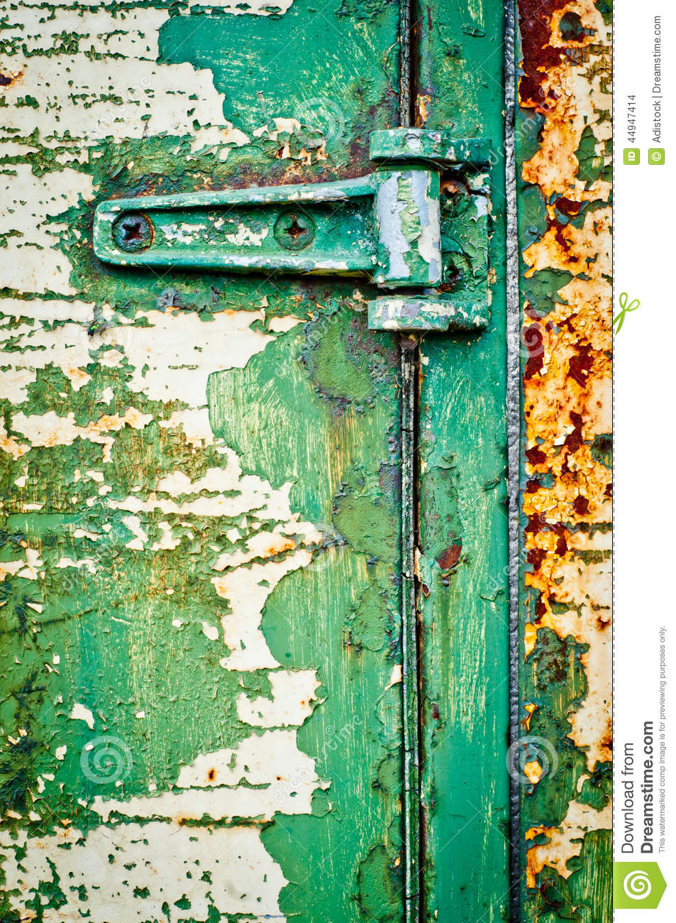 The Old Door With Cracked Paint Background Closed With