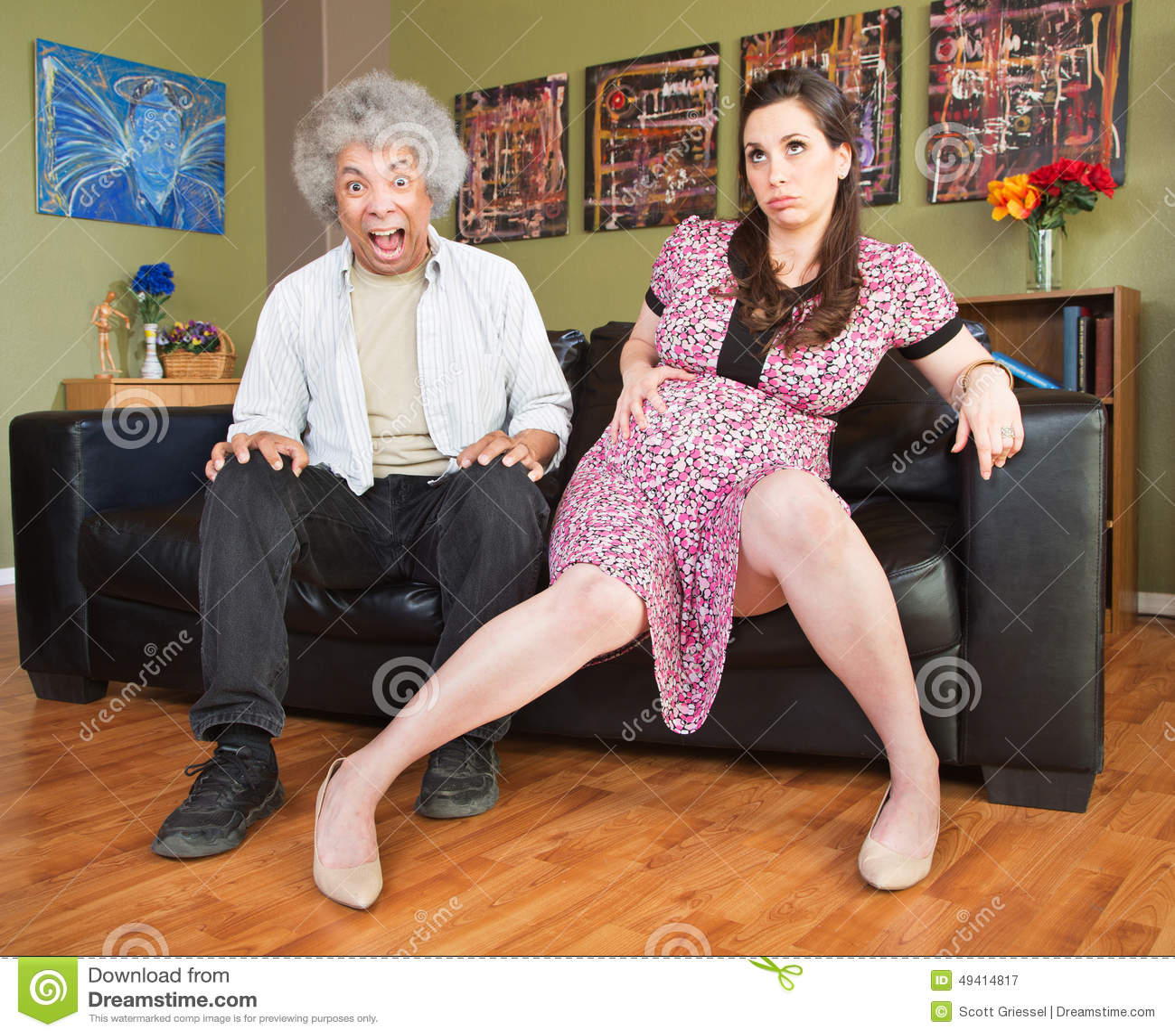 Download Hinreißend Mann Mit Schwangerer Frau Stockbild - Bild von kontraktionen, gebohrt: 49414817