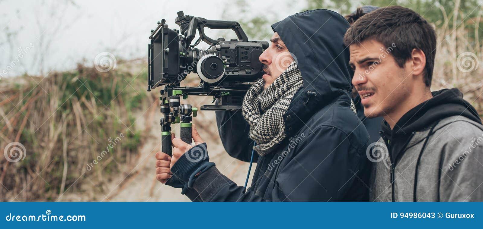 Hinter der Szene Kameramann- und Filmregisseurschießenfilm scen