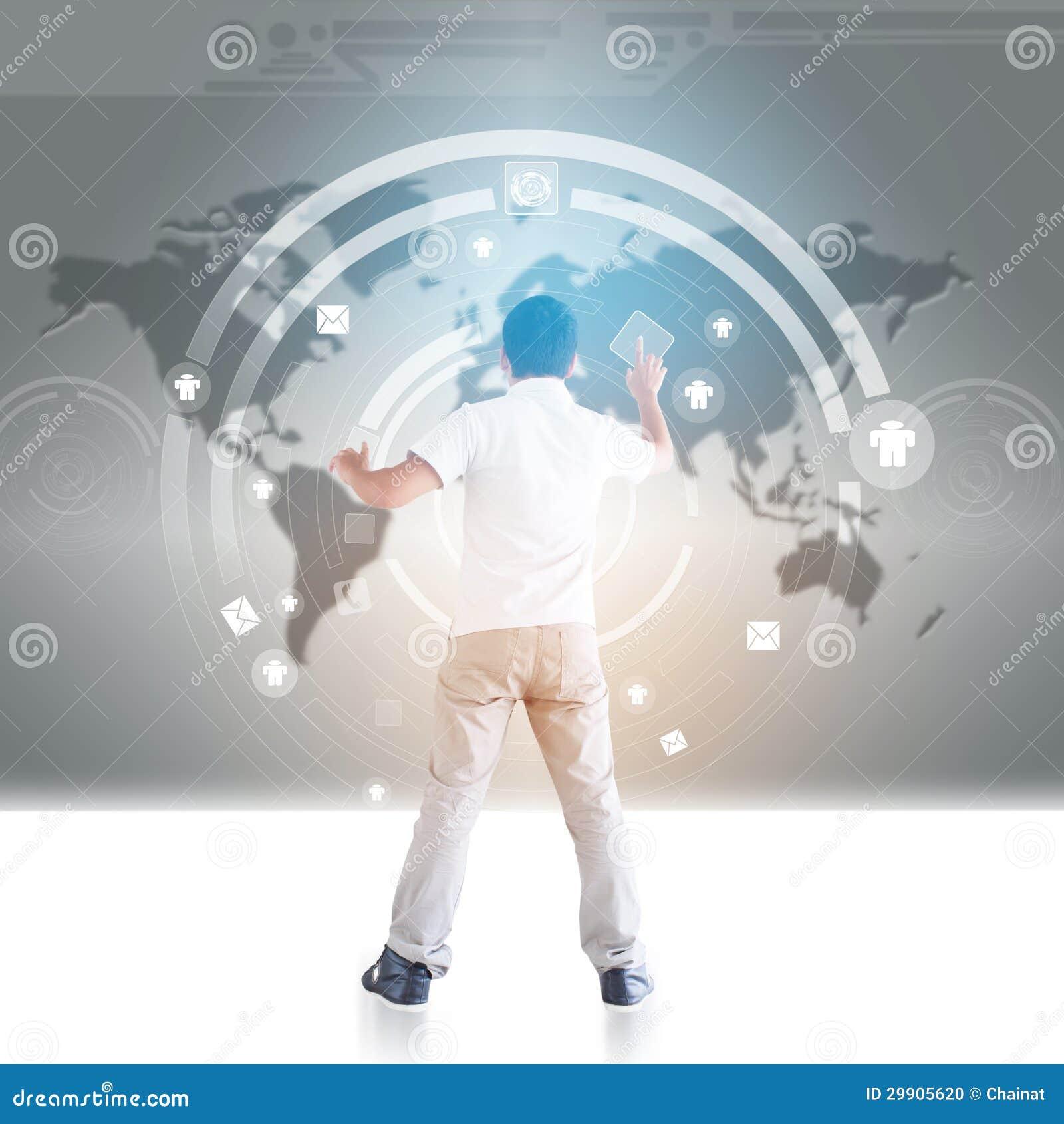 Person mit globalen Verbindungen