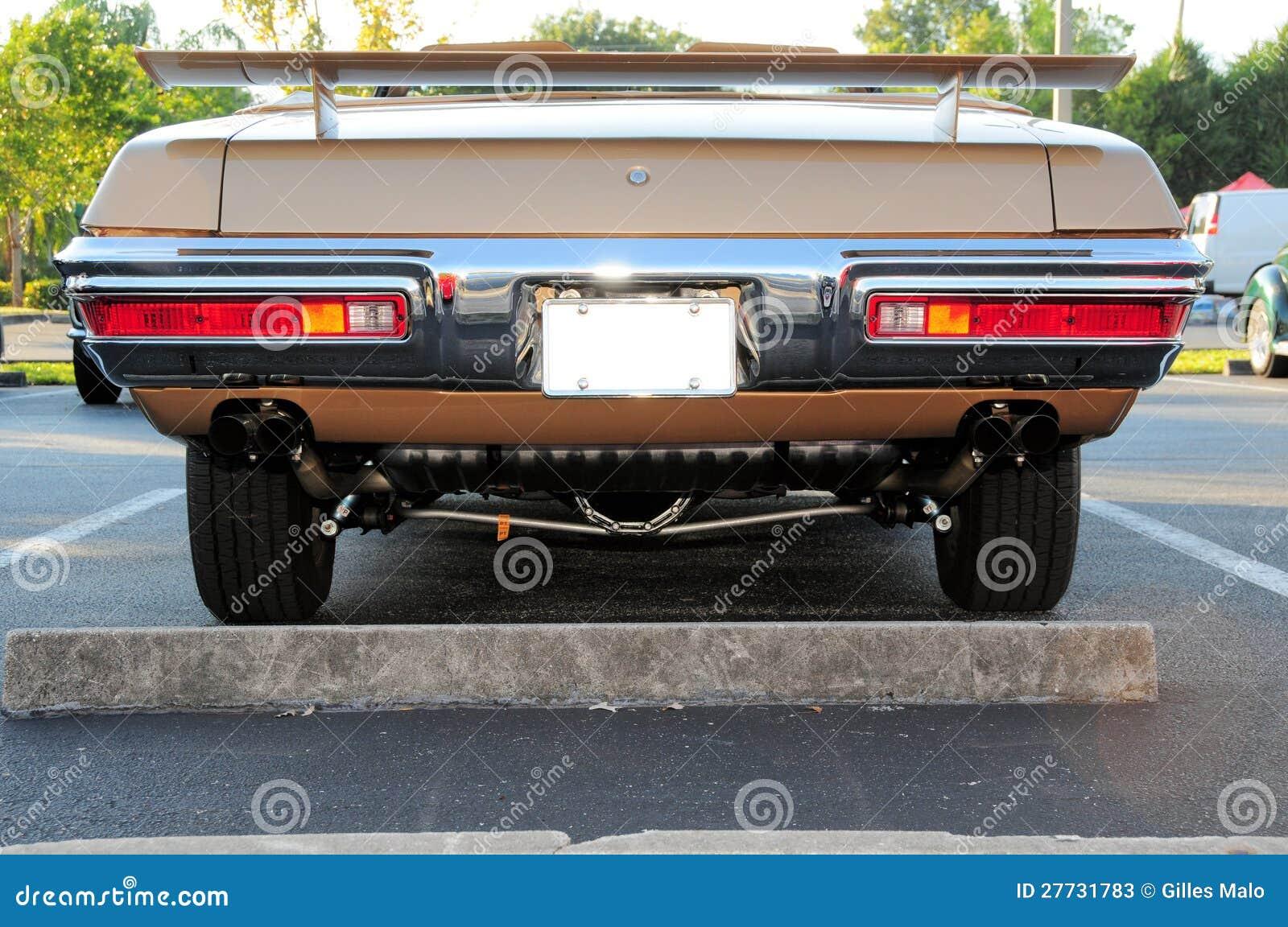Hintere Ansicht des Sportautos