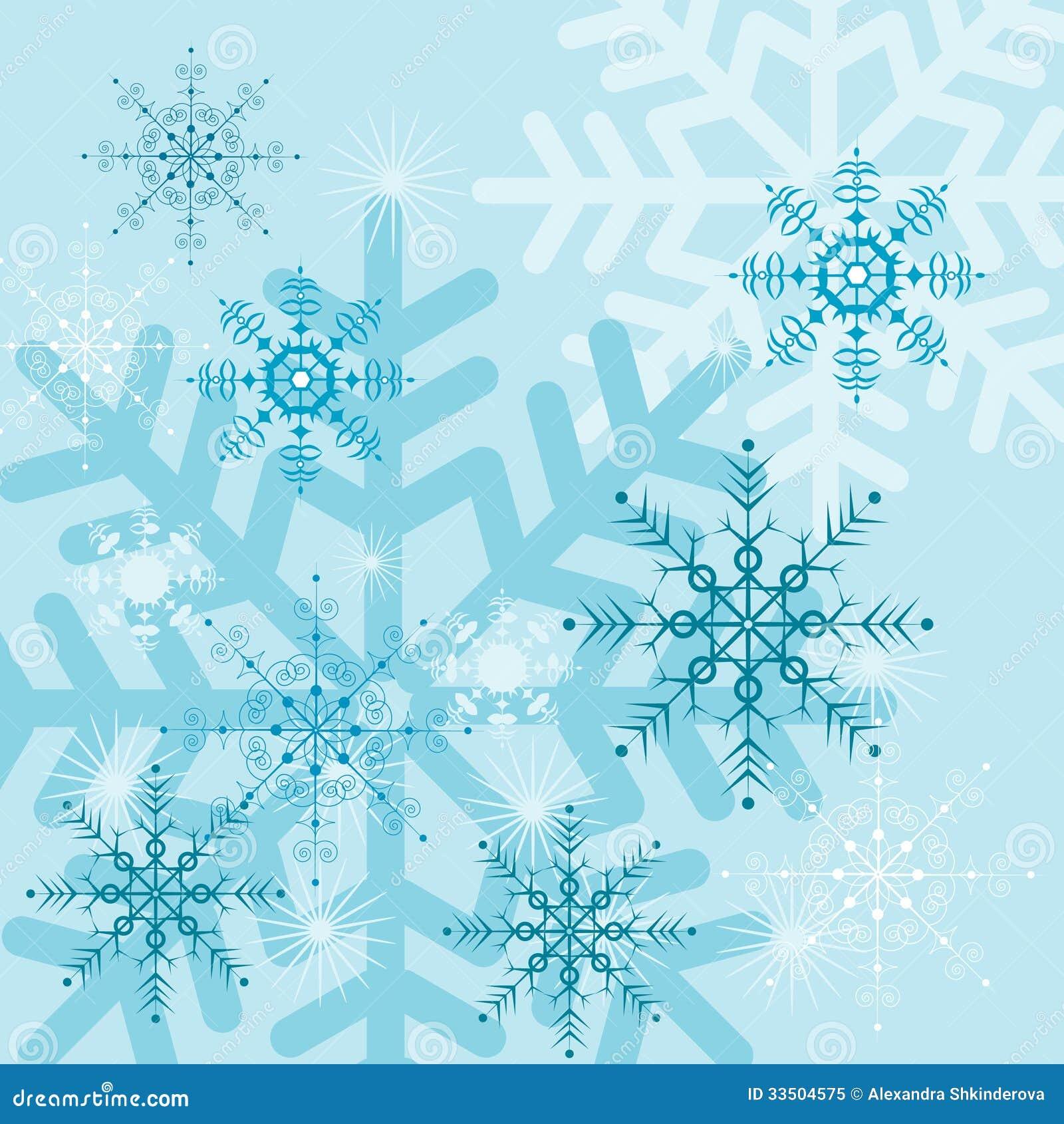 Hintergründe Mit Schneeflocken Vektor Abbildung - Illustration von ...