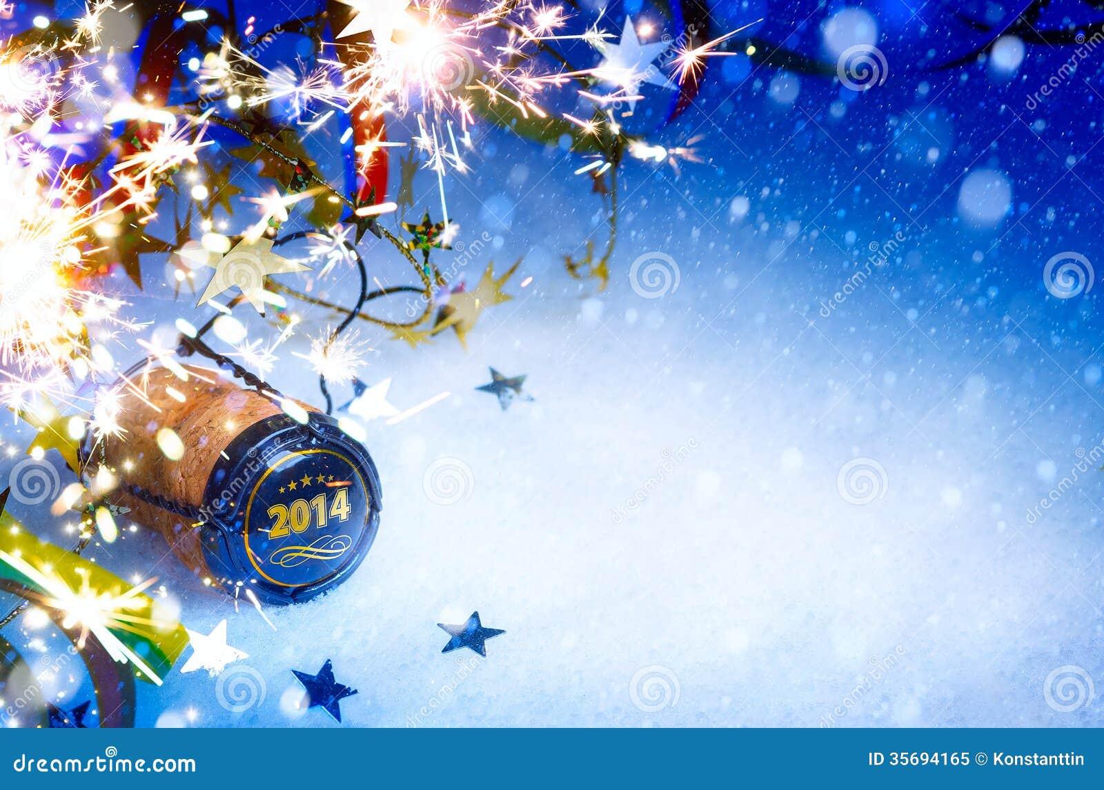 Hintergrund Art Christmass und der Partei des neuen Jahres 2014