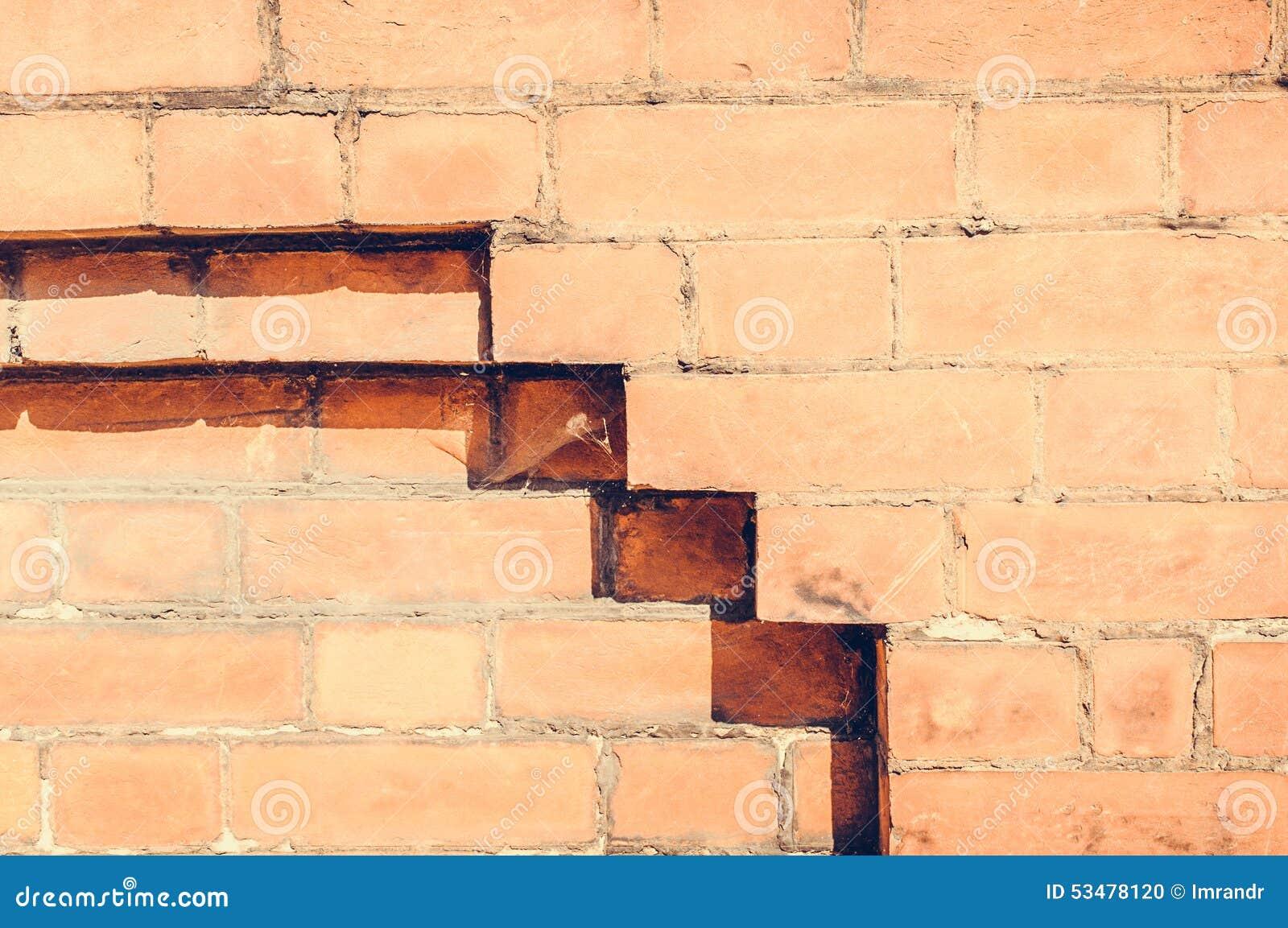 Hintergrund Der Alten Weinlesebacksteinmauer In Einem Muster Stockfoto   Bild von effekt ...