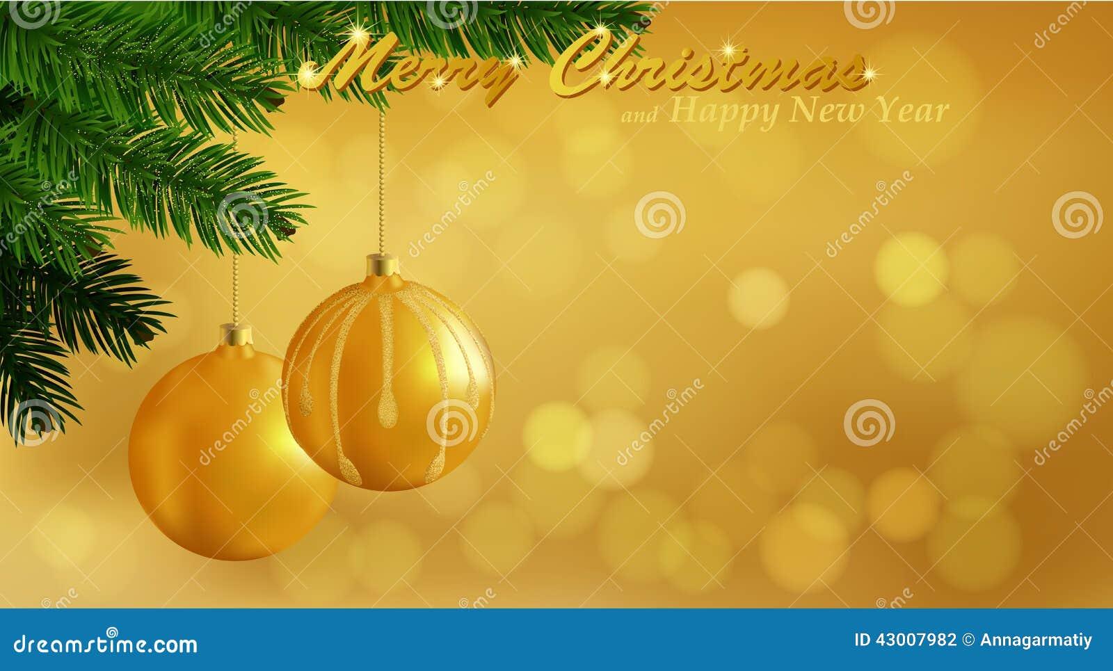 hintergrund der frohen weihnachten gold vektor abbildung. Black Bedroom Furniture Sets. Home Design Ideas