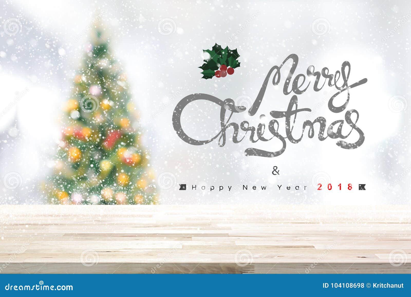 Hintergrund 2018 der frohen Weihnachten und des guten Rutsch ins Neue Jahr mit hölzernem Vorsprung