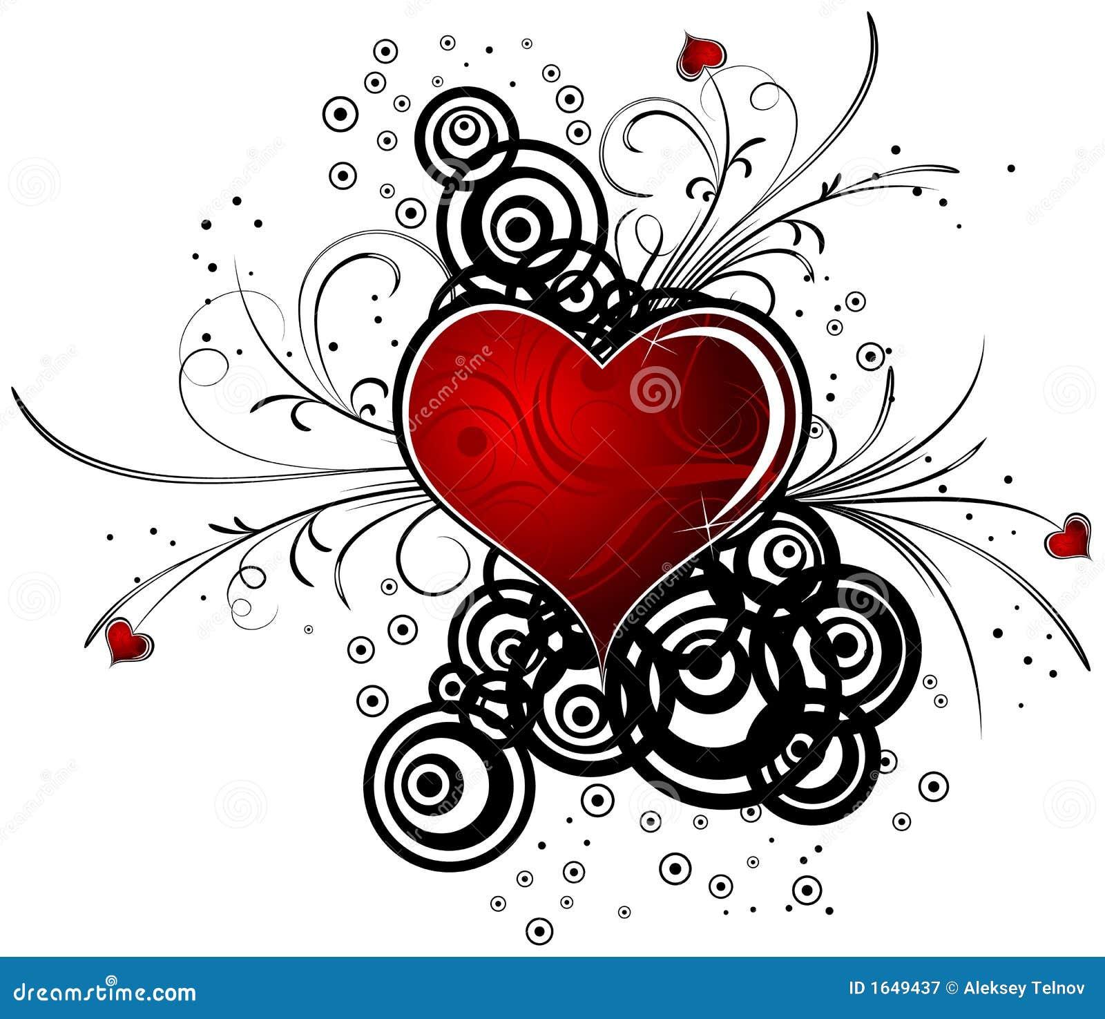 Hintergrund des abstrakten Valentinsgrußes mit Inneren, Vektor
