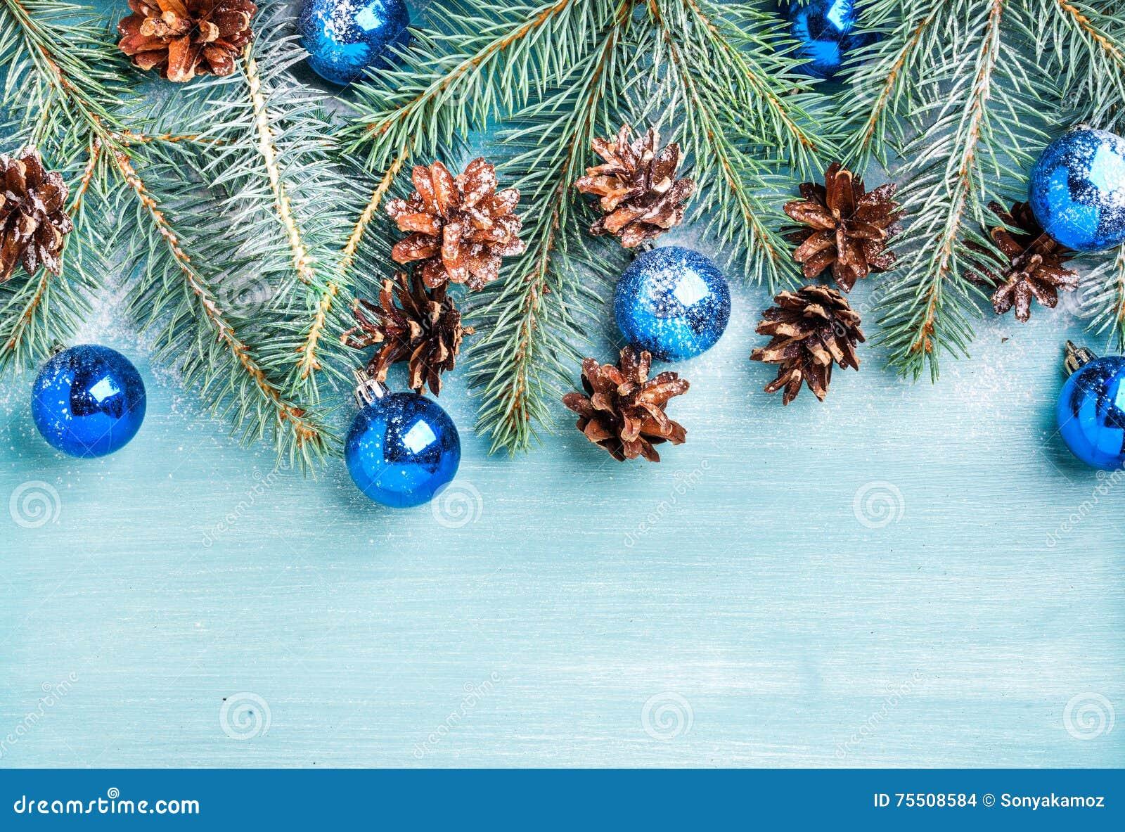 Hintergrund Des Neuen Jahres Oder Des Weihnachten: Tannenzweige ...