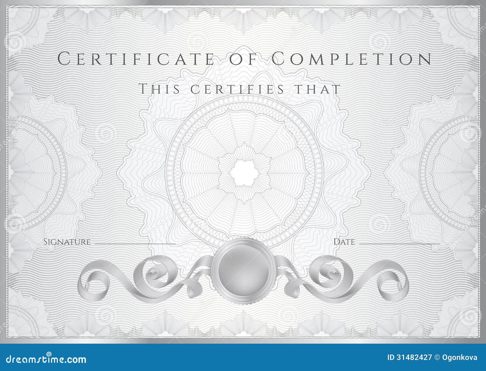 Hintergrund des silbernen Zertifikats/des Diploms (Schablone)