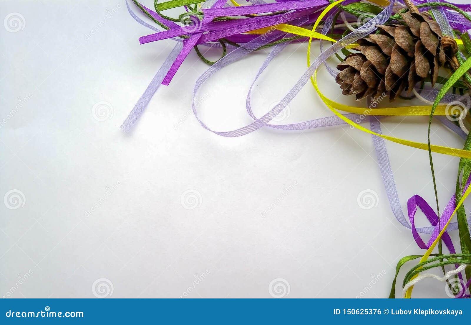 Hintergrund für den Stoß des neuen Jahres mit Bändern