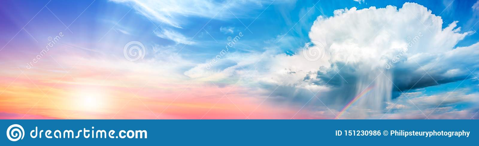 Hintergrund-Fahne von Cumulonimbus Supercell