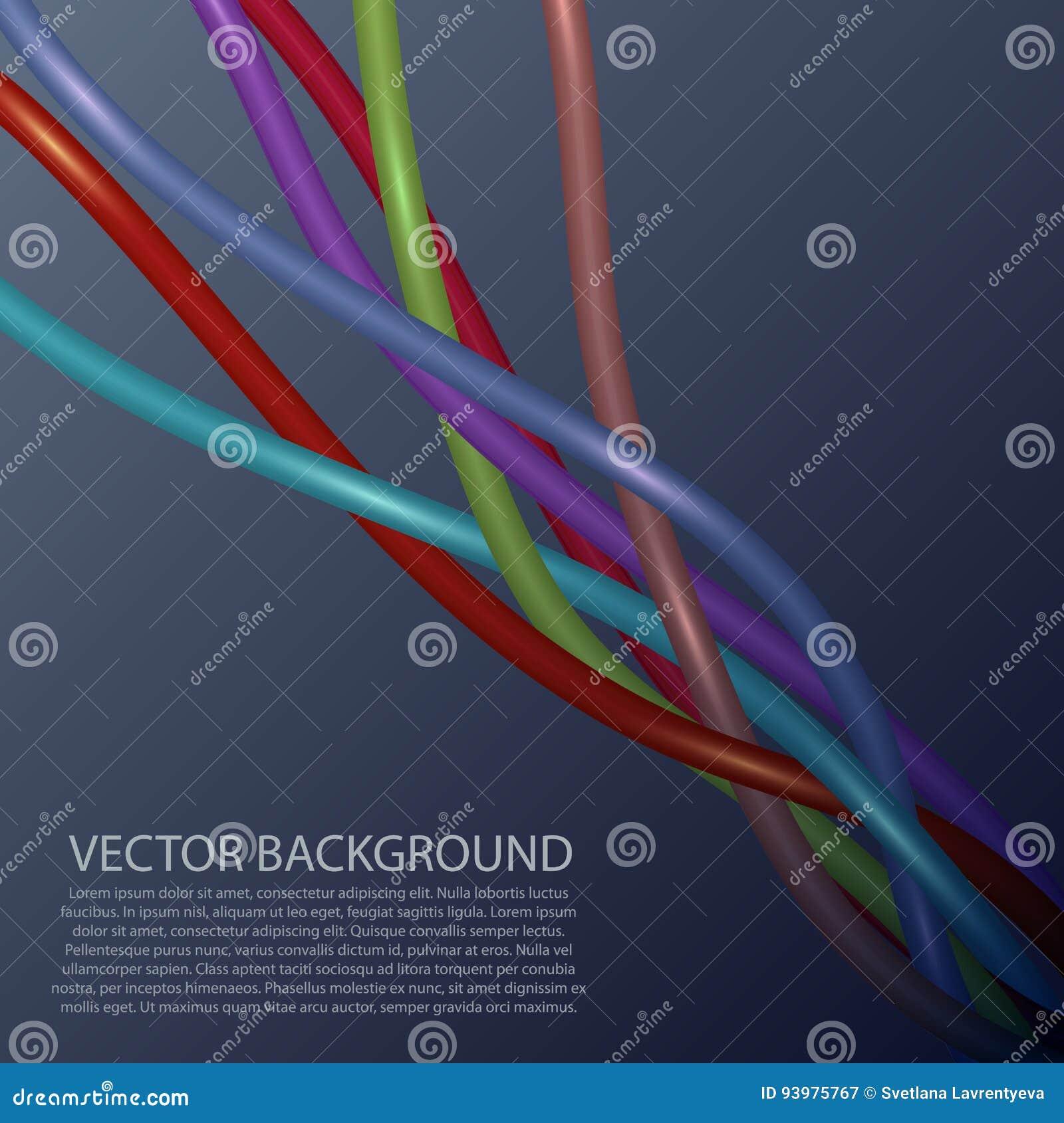 Erfreut Vektor Elektrische Kabel Drähte Fotos - Elektrische ...