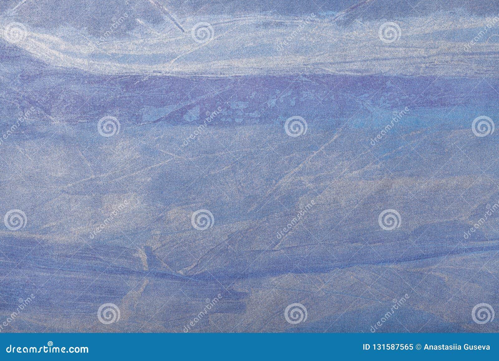 Hintergrund-Marineblau der abstrakten Kunst und silberne Farbe Mehrfarbenmalerei auf Segeltuch Fragment der Grafik Beschaffenheit